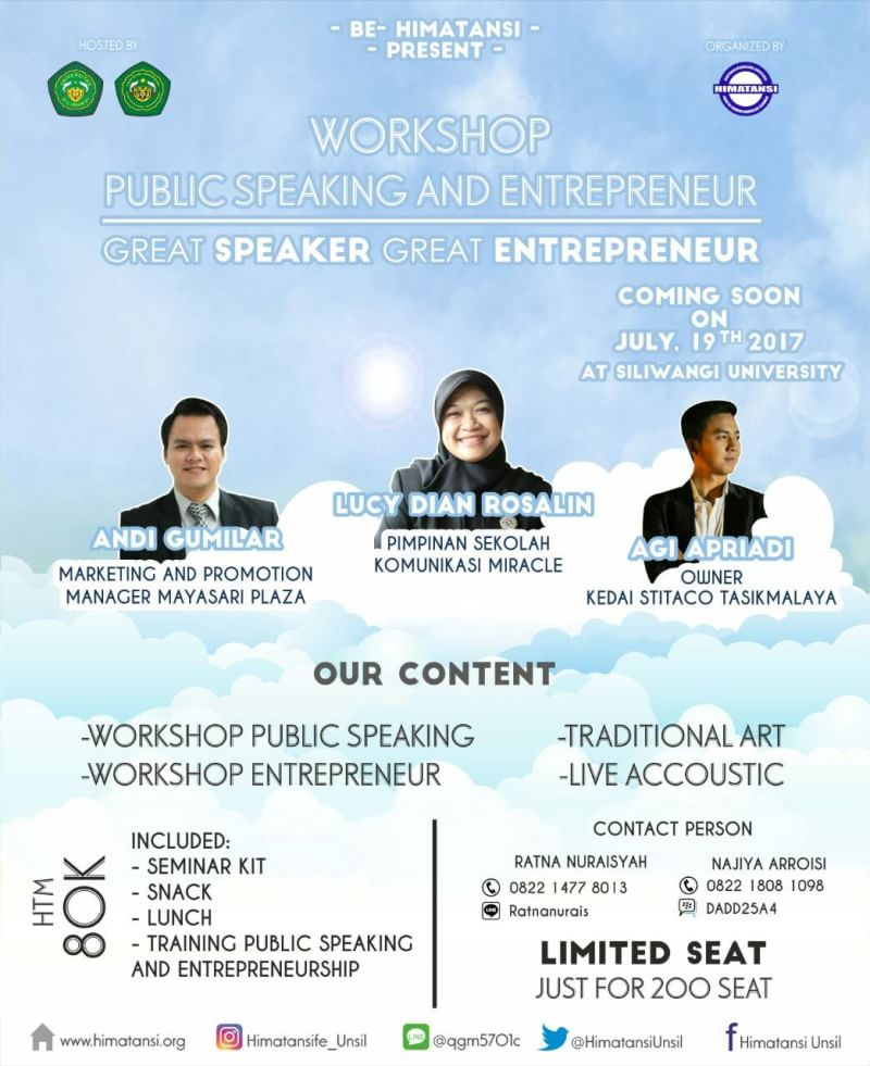WORKSHOP PUBLIC SPEAKING AND ENTREPRENEUR 2017